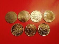 7 pièces de 50 Centimes en  Argent différentes