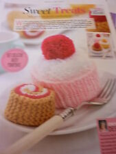 PatternTo Knit 3 Cakes- Swiss Roll, Battenburg & Cup Cake-All In Oddments of D.K