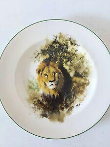 Wedgwood David Shepherd Lion Plate World Wildlife Fund Made In England