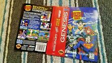 BOX ART ONLY Justice League Task Force Original Sega Genesis Case Sleeve