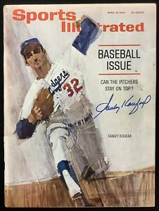 Sandy Koufax Signed Sports Illustrated 4/13/64 No Label Dodgers SOY Auto OA Cert