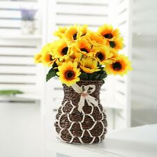 14Head Fake Sunflowers Artificial Silk Flowers Bouquet Home Wedding Table Decor