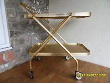 Mid Century Vintage Folding Gold  Drinks Trolley Lovely bit of Plastic Fantastic