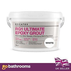 NEW Rocatex RG1 Waterproof Ultimate Epoxy Grout (Walls & Floor) 2kg White