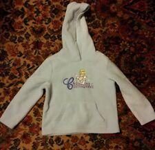 000 Girls Disney Store Cinderella XS 4/5 Hoodie Sweatshirt Light Blue