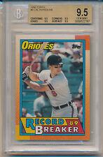 1990 Topps (1989 Record Breaker) Cal Ripken Jr (HOF) (#08) (All 9.5 subs) BGS9.5