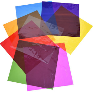 """Outus Cello Sheets Cellophane Wraps for Gel Light Filter, 7.5""""x7.5"""" 104 Pack"""