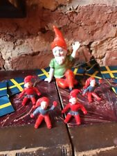 Collection Of Vintage Antique Christmas Cake Decorations Bisque Gnome
