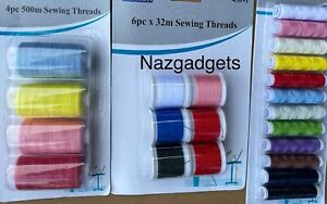 Sewing Tread Polyester 4 -31 Multi Packs &Light Assorted Colours 5 Different set