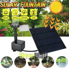 Solar Power Fountain Pool Water Pump Panel Garden Plants Watering Kit 200L/h US