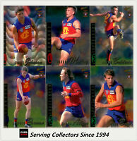 1996 Select AFL Classic Metal Trading Card Silver Base Team Set: Fitzroy (6)