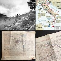 WWII Rare George Patton Seventh Army Infantry Villach Italy Combat Map WW2 Relic