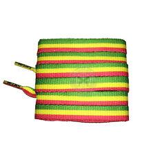 Mr Lacy Printies - Rasta Shoelaces - 130cm Length 10mm Width