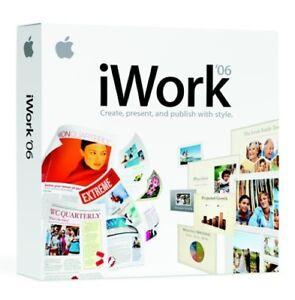 New Apple iWork 2006 - Mac DVD (MA222Z/A) Family Pack