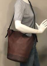 COACH Bleecker Large Leather Grommet Duffel Shoulder Bag Tote Brick Brown 32392