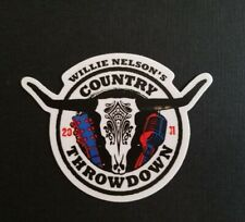 Willie Nelson Tour Sticker. Willie Nelson's Country Throwdown 2011 Decal