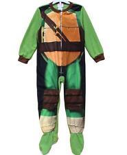 J05 -  Ninja Turtle  Kids Onepiece Footed Pyjamas PJs Size 4 5 6 7 8