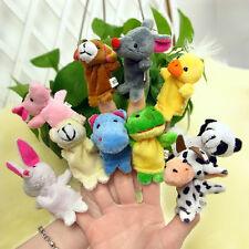 10x Velvet Finger Animal Toy Puppet Play Learn Story Party Bag Fillers Farm_GG