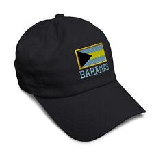 Soft Women Baseball Cap Bahamas National Flag Embroidery Dad Hats for Men