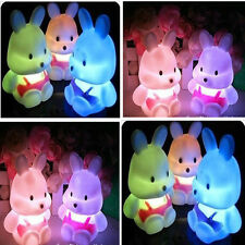 Magic LED Night Light Bunny Shape Colorful Color Changing Lamp Room Bar Party