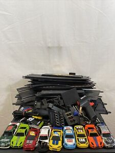 2007 SCX 1/43 Technitoys Track Lot W/9 Slot Cars & 2 Controllers For Parts