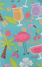 Summer Party Vinyl Tablecloth Umbrella Hole Zipper Tropical Drinks  Asst. Sz.