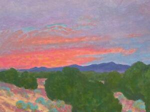 Southwest Art Santa Fe Oil Painting Western Desert New Mexico Piñon Landscape