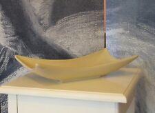 Beige Ceramic Pottery Oblong Decorative Fruit Potpourri Bowl Home Decor