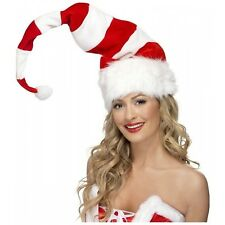 Striped Santa Hat Costume Accessory Adult Christmas