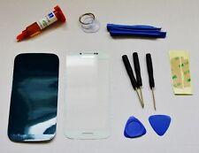 Reparaturset Samsung Galaxy S4 i9500 Display Glas mit UV Kleber + Werkzeug weiß