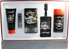 BORN & WILD BY ED HARDY 5 PIECES GIFT SET FOR MEN NEW IN GIFT BOX