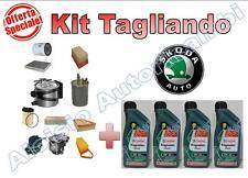 KIT TAGLIANDO OLIO CASTROL MAG. 5W40+FILTRI SKODA FABIA 1.9 SDI 64 CV (P5) ASY *