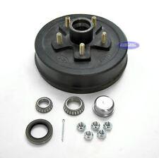 "Boat or Utility Trailer Brake Drum Hub 5 on 5 1/2 10"" x 2 1/4"" 3500 lbs Kit"