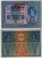 Autriche HONGRIE AUSTRIA HUNGARY Billet 1000 Kronen 1902 (1919) P8 NEUF UNC