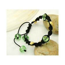 Wholesale Lot 8 Faceted Crystal Bead Adjustable Shamballa Bracelets 18 Colors