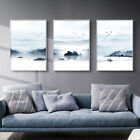 Mountain Boat Nature Canvas Poster Abstract Traditional Chinese Wall Art Print