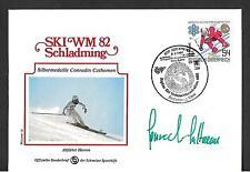 AUSTRIA 1982 ALPINE WORLD SKIING CHAMPIONSHIP CONRADIN CATHOMEN AUTOGRAPH !!