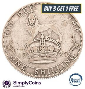 1920 TO 1936 GEORGE V SILVER BRITISH SHILLING - CHOICE OF YEAR / DATE