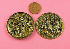 """W/Charging Horses""""-1 Pc(s) Antique Brass """"Angels"""