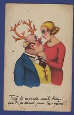 """i* Carte postale CPA Humoristique """"Tout le monde sait bien que tu es aimé pour.."""