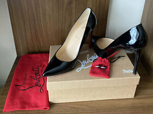 Christian Louboutin Black Pigalle 100 Patent heels Size 41