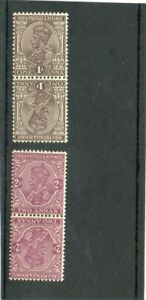 SG 203a &206a INDIA MINT HINGED..CAT £16