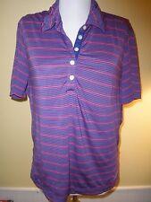 Nike Golf women's polo shirt adult medium fit dry short sleeves purple blue pink