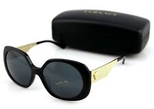 201984e13e43 NEW Genuine VERSACE Medusa Black Gold Grey Round Sunglasses VE 4331A GB1 87