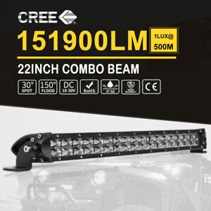 20inch LED Light Bar Slim Rows Spot Flood Cmobo ATV SUV Truck Driving 23'' 20''