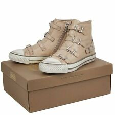Ash Virgin Sneaker Clay Khaki Strap Leather 340031 Women Girl Size 38 Shoes New