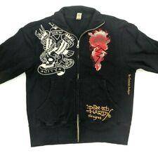 Ed Hardy By Christian Audigier Black Full Zip Track Jacket XL Tiger NYC New York