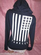 Victoria's Secret PiNK Hoodie NY Yankees Zip Sweatshirt Sequin Flag BLiNG NWT