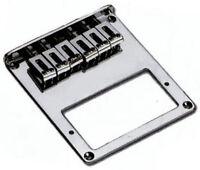 Telecaster® style electric guitar bridge - Fits bridge humbucker pickup - Chrome