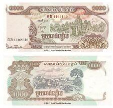Cambogia 1000 riels 1999 UNC banconote P-51